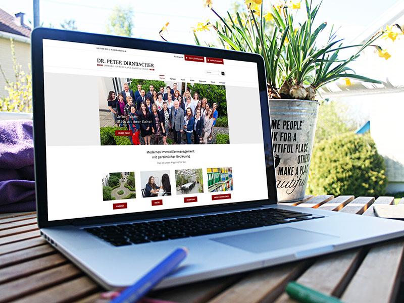 Hausverwaltung Wien - Neue Website für Dirnbacher Immobilien